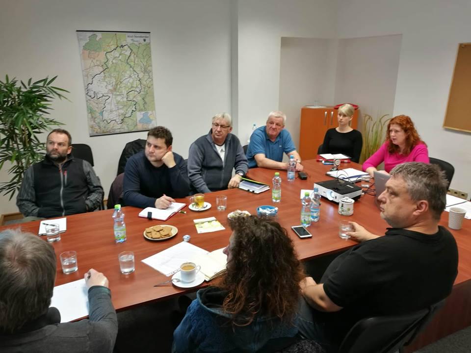 Schůzka projektu se starosty zapojených obcí